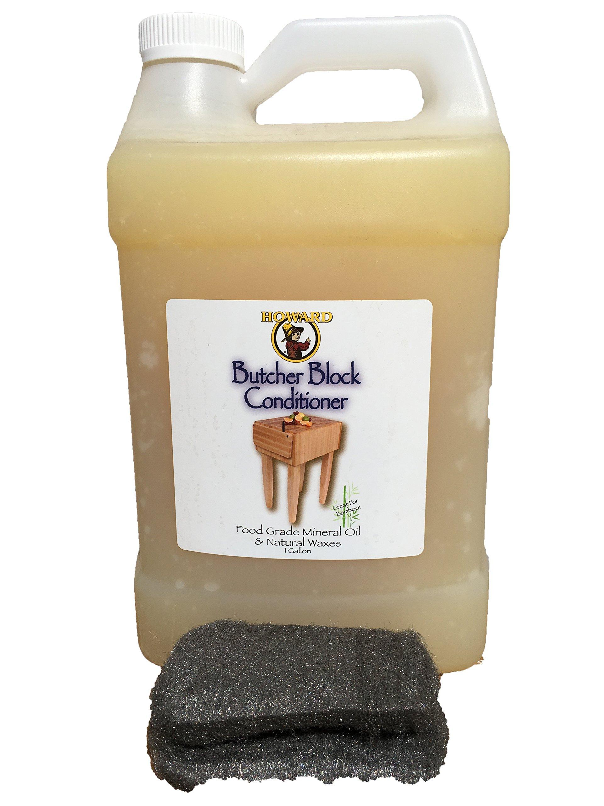 Howard Butcher Block Conditioner Gallon 128 Ounces, Enriched with Orange Oils, Food Grade with Vitamin E