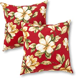 Greendale Home Fashions Outdoor Accent Pillows, Roma Floral, Set of 2