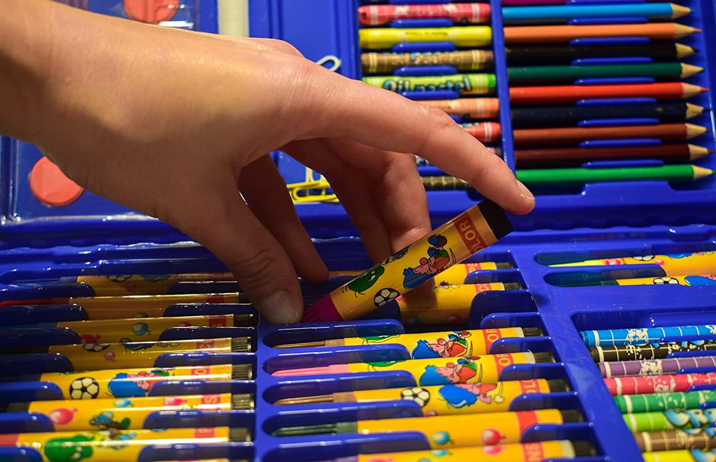 MALSET BLAU 86 Teile mit Kinder - Jungen / Mädchen für malen mit ...