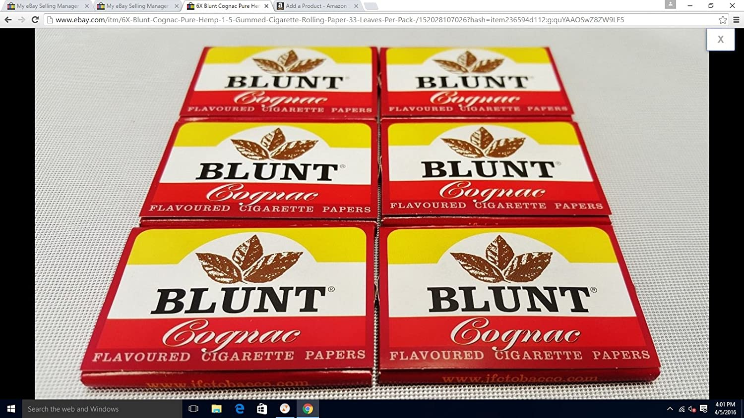 Amazon.com: 6X Blunt Cognac Pure Hemp 1.5 Gummed Cigarette Rolling Paper 33 Leaves Per Pack: Health & Personal Care