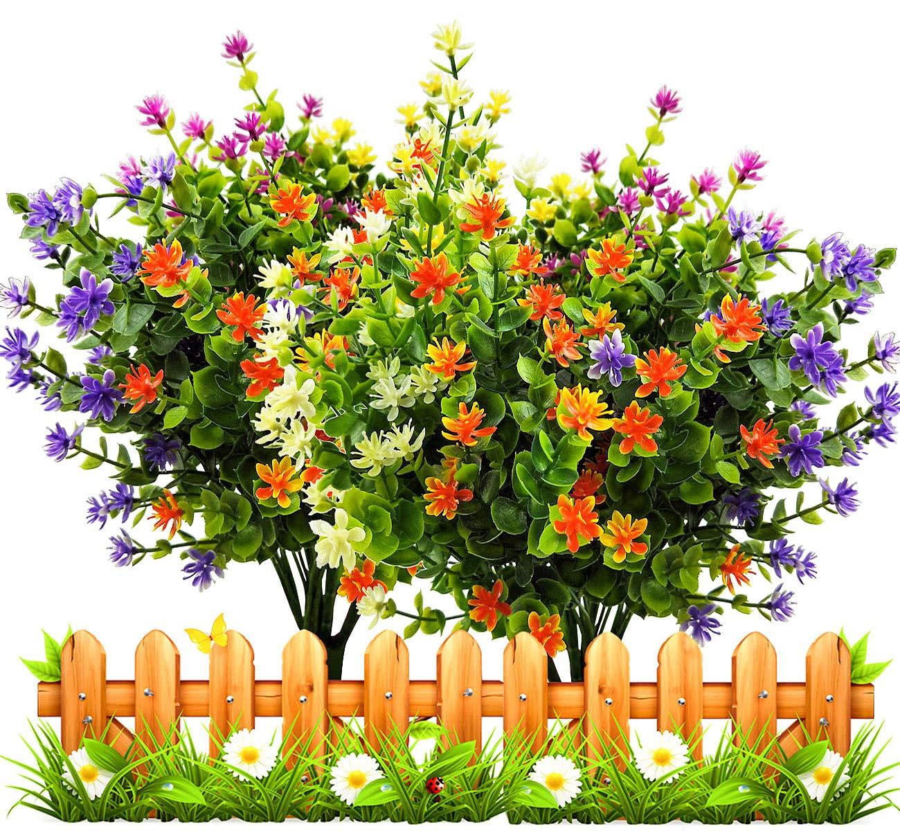 LUCKY-SNAIL-Artificial-Fake-Flowers-Faux-Outdoor-UV-Resistant-Boxwood-Shrubs-Plants-Lifelike-Plastic-Silk-Flowers-for-Indoor-Outdoors-Home-Office-Garden-Wedding-Sidewalk-Trim-Decor