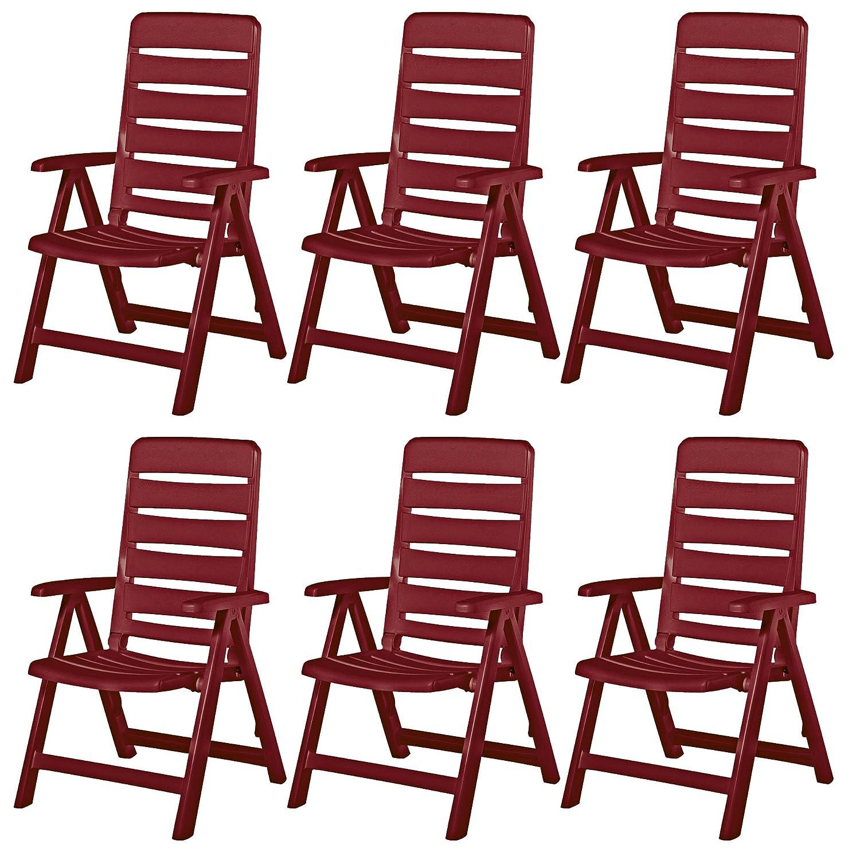 6 kettler nizza gartenst hle gartenm bel klappsessel sessel in rot jetzt kaufen. Black Bedroom Furniture Sets. Home Design Ideas