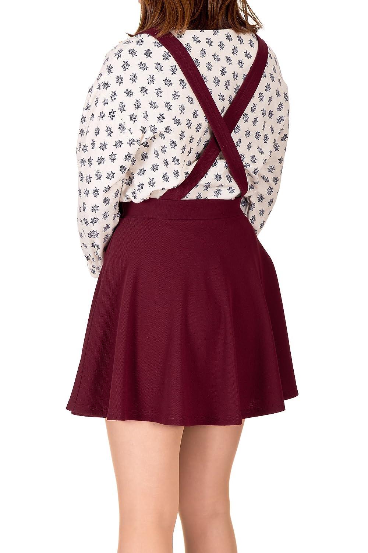 1bfb0569605 Dani's Choice X-Cross Back Suspender High Waist Flared Skater Mini ...