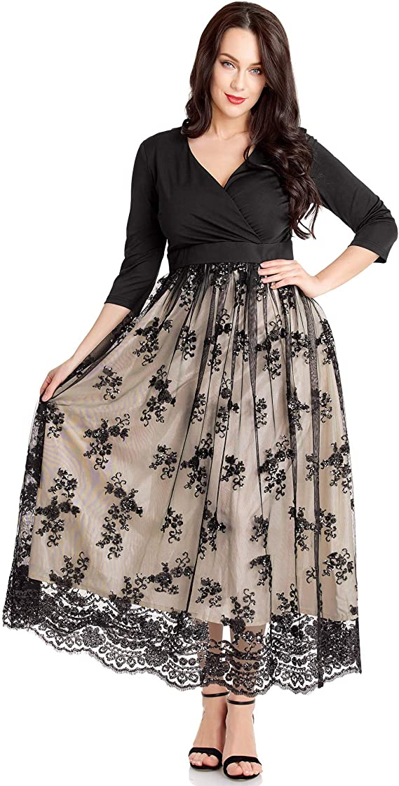Victorian Plus Size Maxi Dress