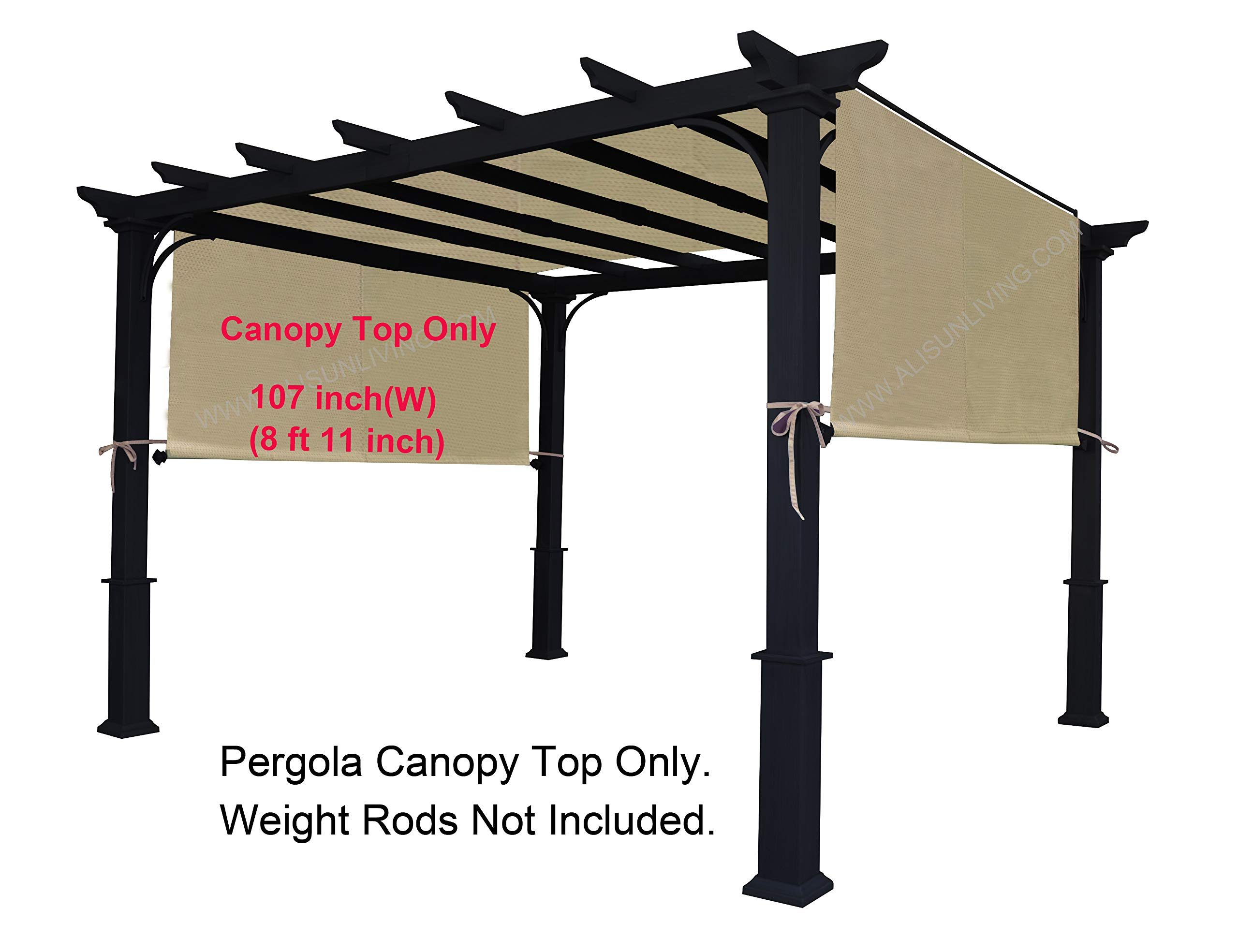 ALISUN Sling Canopy (with Ties) for The Lowe's Garden Treasures 10 FT Pergola #S-J-110 & TP15-048C (Beige)