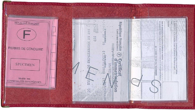 Syl/'la Noir Cercle dise/ño con la bandera de Breta/ña - cgrise-cercle negro Funda de piel para tarjetas y permiso de conducir