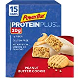 PowerBar Protein Plus Bar, Peanut Butter Cookie, 2.29 oz Bar, (15 Count)