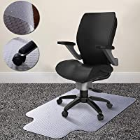 """Todeco Office Chair Mats for Carpeted Floors 1/8"""" Thick,36×48 inches, Tough Thick Office Chair Mat for Carpet with Lip…"""