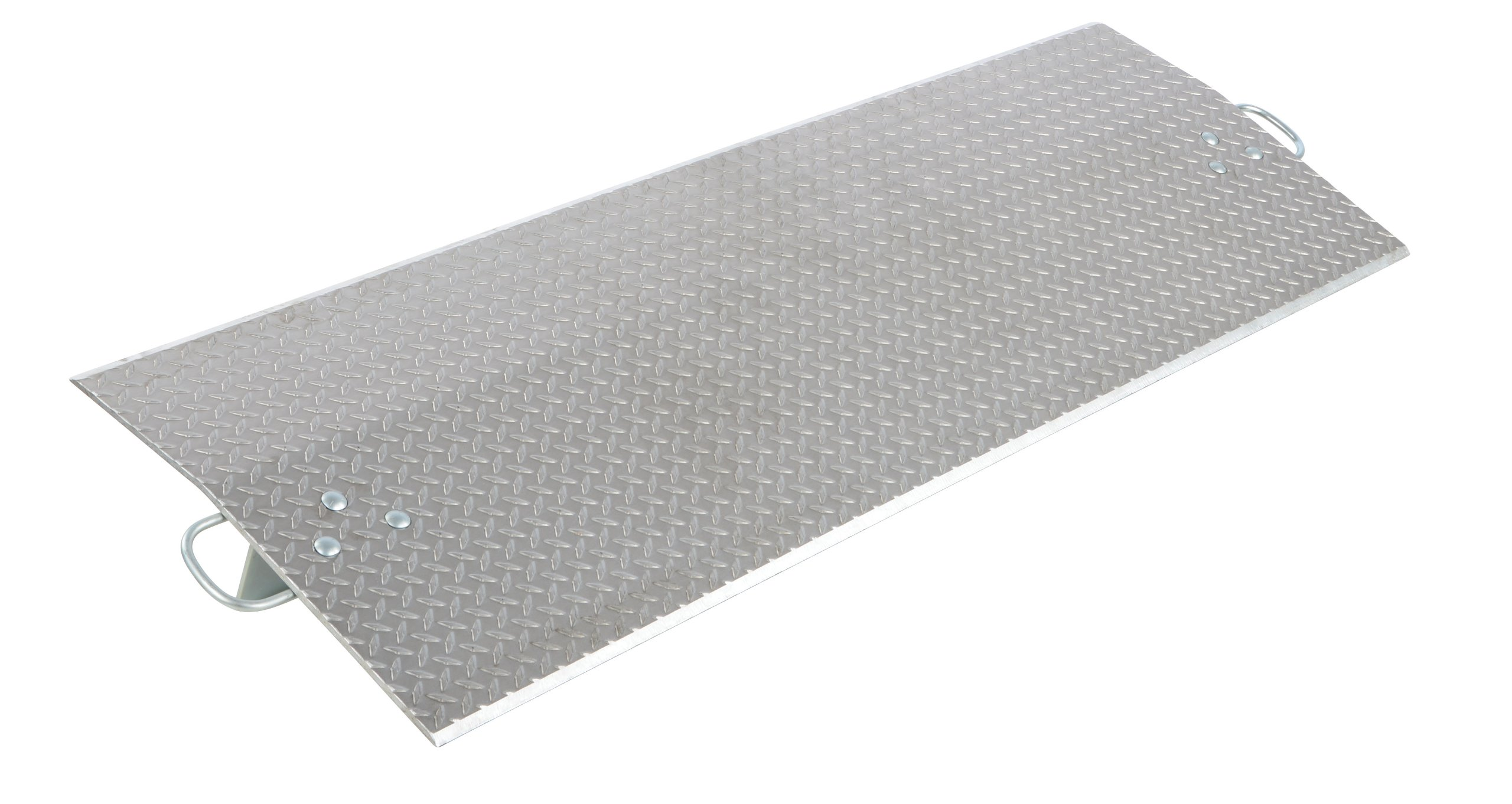 Vestil E-7230 Aluminum Economizer Dock Plate, 5,400-lb. Capacity, 30'' Length, 72'' Usable Width, 4'' Height Difference, 3/8'' Plate Thickness
