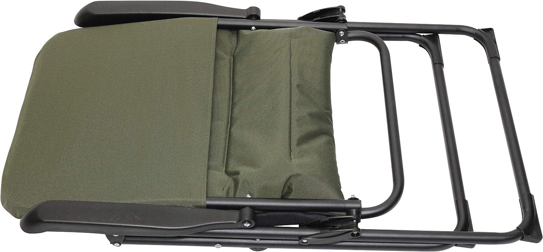 Homecall Chaise de camping pliable /à dossier r/églable et rembourr/é Vert//noir