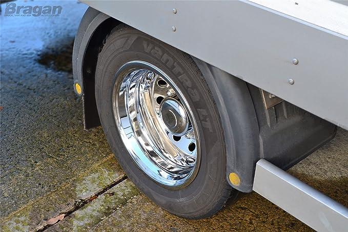 Tapas de rueda de acero inoxidable de 16 pulgadas marca Bragan ...