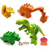 Aliris Jurassic World - 5 Dinosaurs - Dino Zoo Park T-Rex Set for Toddler - Duplo Compatible