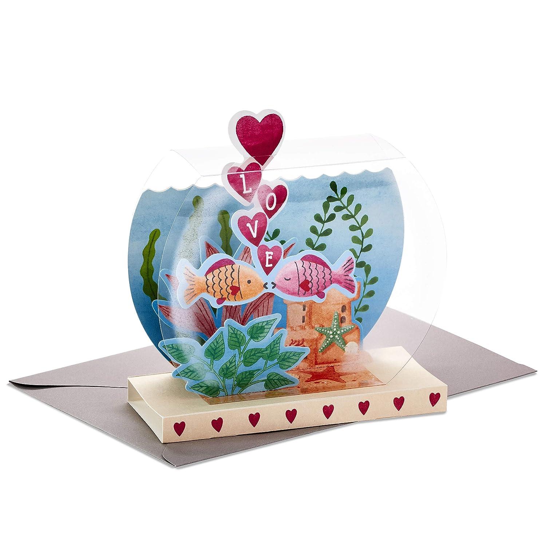 Hallmark Paper Wonder Displayable Pop Up Anniversary Card Goldfish