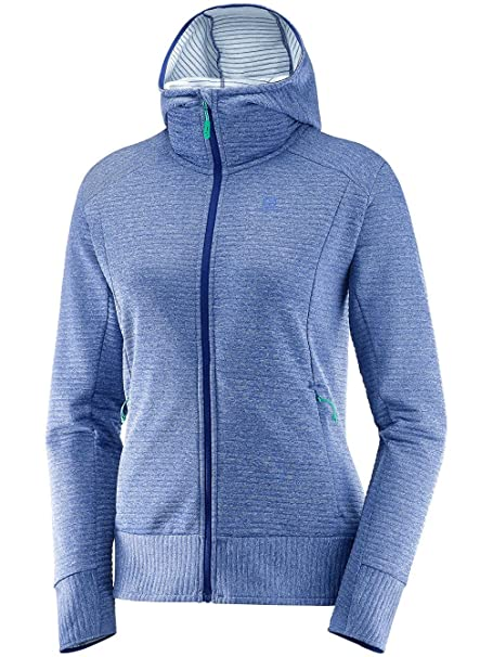Salomon Right Nice Mid Hoodie W Damen, Pullover, blau qWF4I