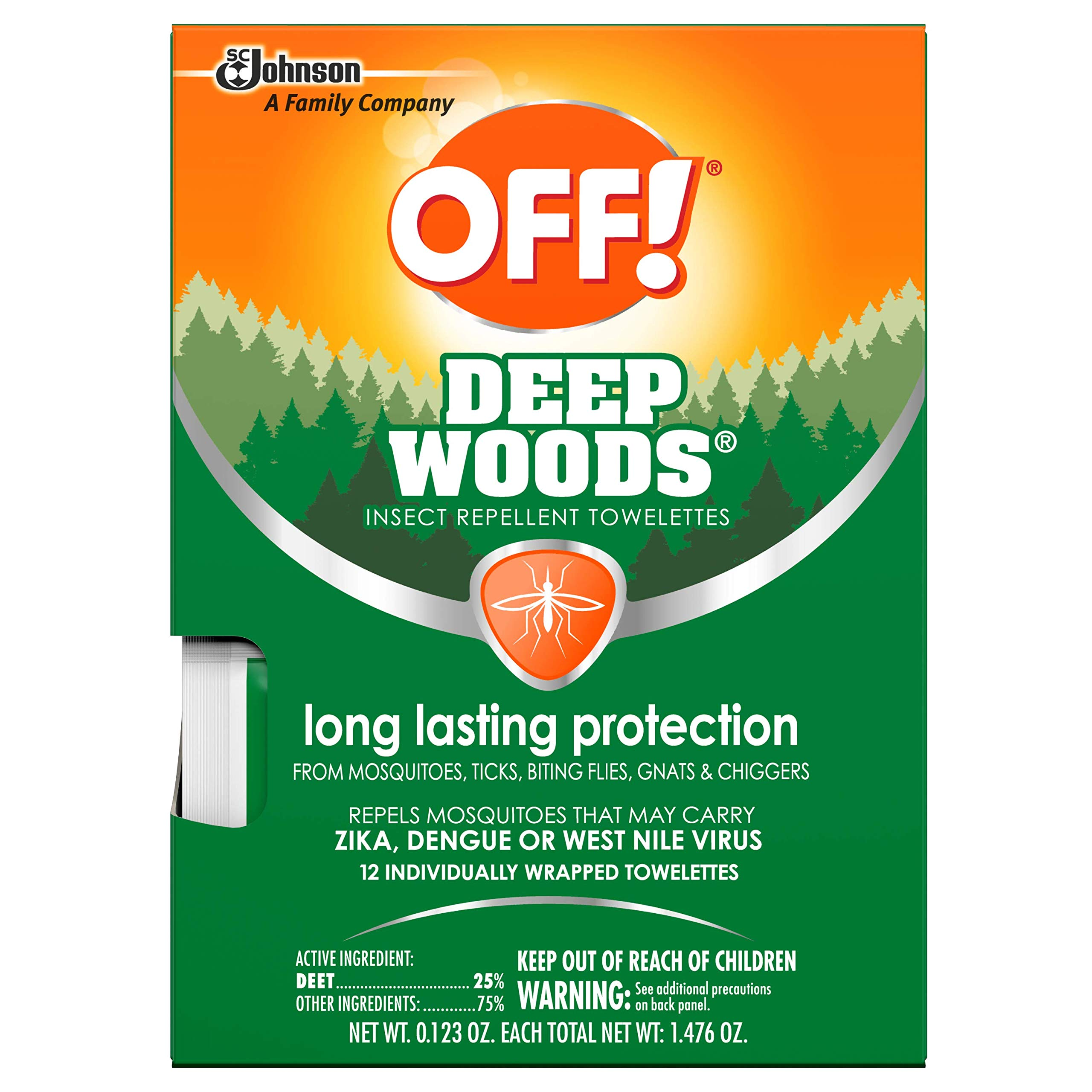 OFF! Deep Woods Towelettes, 12 CT (Pack - 3) by OFF!