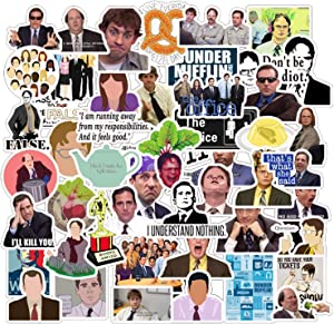 The Office Sticker Pack of 50 Stickers - The Office Sticker Waterproof for Laptops Hydro Flasks, Vinyl Sticker, Funny Sticker for Laptop Water Bottles