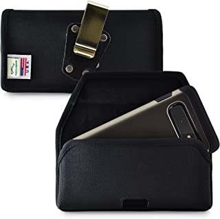 product image for Galaxy S10 Belt Clip Case, Turtleback Galaxy S10 Holster, Rotating Belt Clip, Black Nylon Pouch, Heavy Duty Horizontal Made in USA