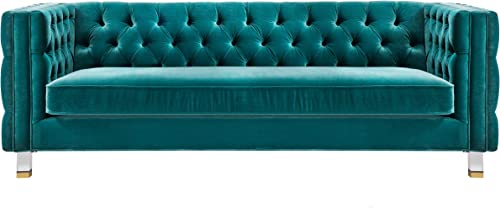 TOV Furniture The Rimini Collection Modern Velvet Upholstered Living Room Sofa