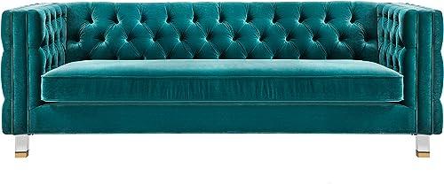 TOV Furniture The Rimini Collection Modern Velvet Upholstered Living Room Sofa