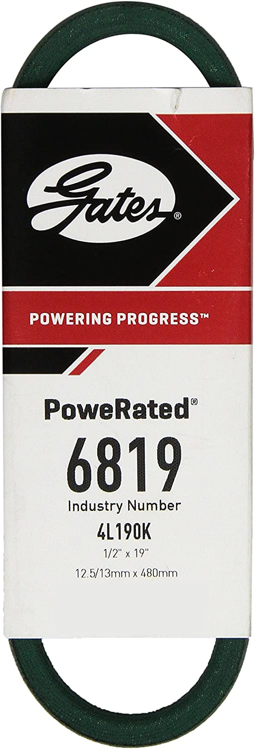 4L Section Gates 6819 PoweRated V-Belt 5//16 Height 19.0 Belt Outside Circumference 1//2 Width