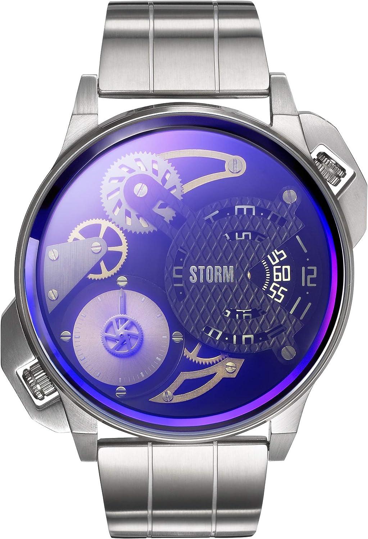 STORM London Dualmation Lazer Blue, Herrenuhr, Dual Time