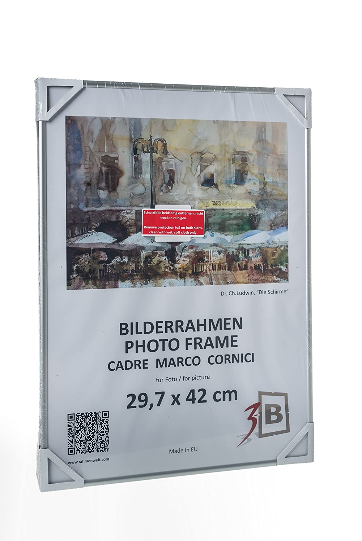 Amazon.de: 3-B Set 3 Stk. - Bilderrahmen ALU Foto 15x21 cm (A5 ...