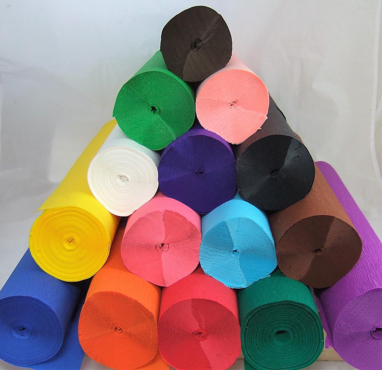 1/rojo/ herramientas de marketing gran favorito con escuelas y la artesan/ía /Jumbo 26/m Crepe rollo de papel Muchos usos como decoraciones 50/cm x 26/m de largo