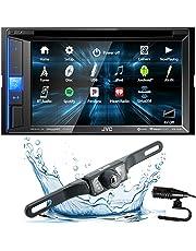 "JVC KW-V25BT (KWV25BT) Double DIN in-Dash Bluetooth CD/DVD/AM/FM/Digital Media Car Stereo Receiver w/ 6.2"" Touchscreen, Pandora, Spotify and iHeartRadio Control + HD Backup Camera"