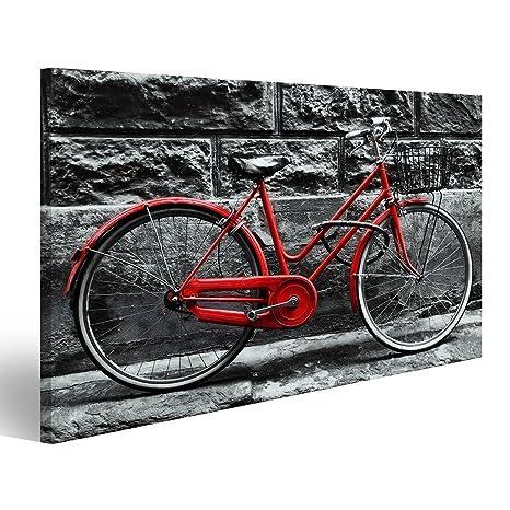 Islandburner Quadri Moderni Retro Bicicletta Rossa Depoca Sul Muro