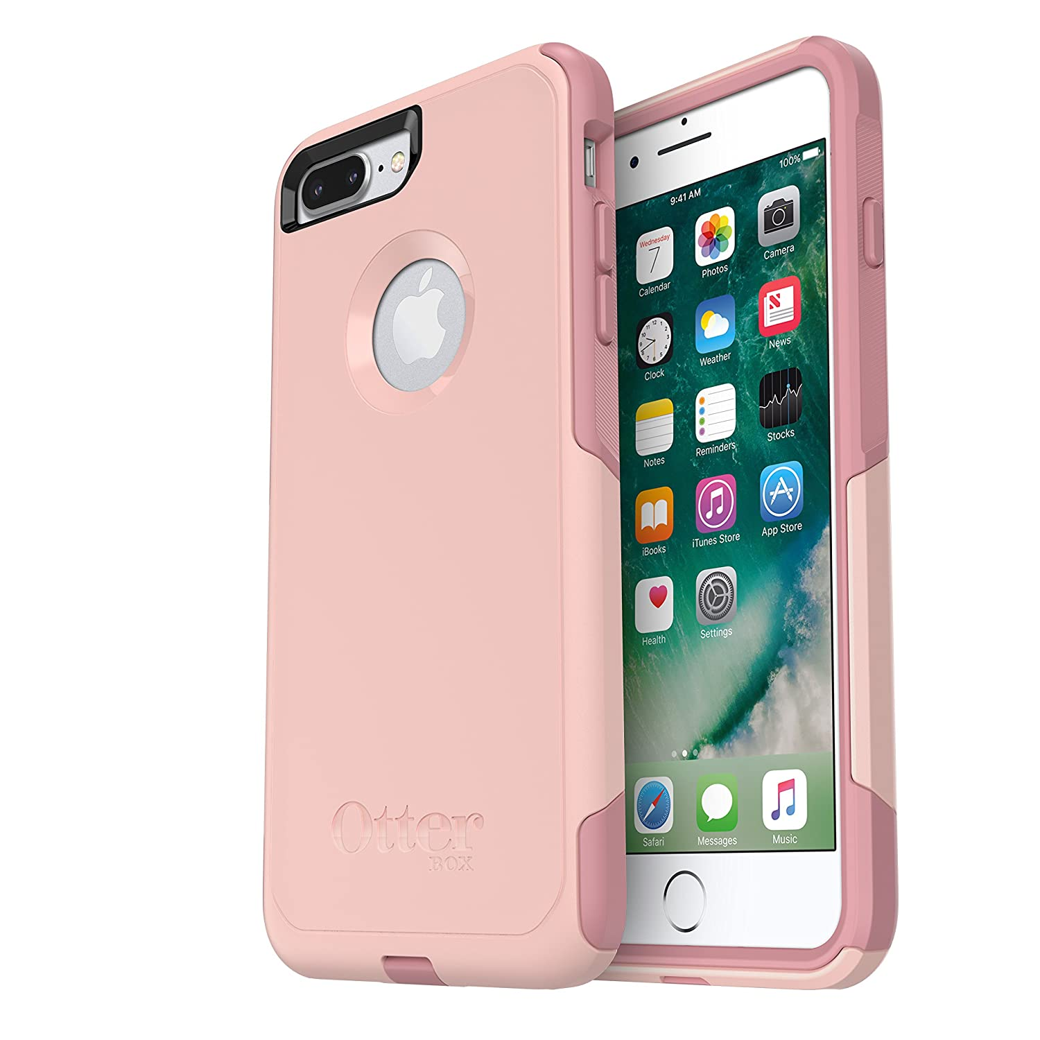 the latest 78dbc e5069 OtterBox COMMUTER SERIES Case for iPhone 8 Plus & iPhone 7 Plus (ONLY) -  Frustrations Free Packaging - BALLET WAY (PINK SALT/BLUSH)