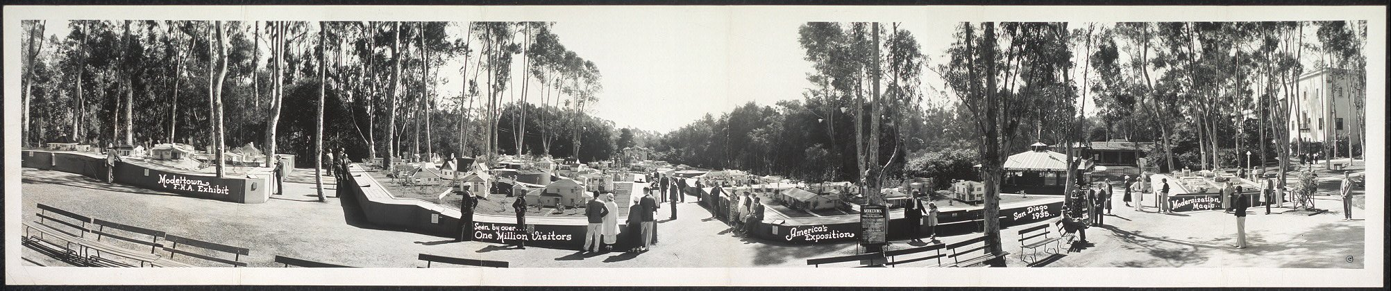 Photo Modeltown, F.H.A. Exhibit, seen by over one million visitors, America's Exposition, San Diego, 1935,