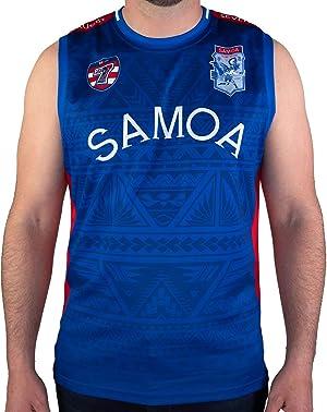 Rhino Rugby | Performance Team Singlet | Sleeveless Fitness Tank - Samoa