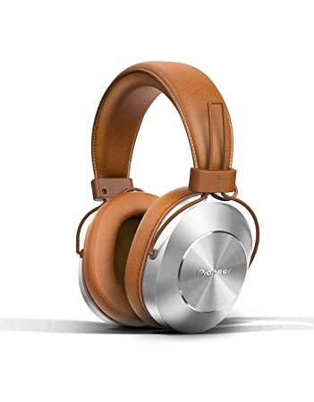 pioneer bluetooth headphones. pioneer bluetooth and high-resolution over ear wireless headphone, brown (se-ms7bt headphones