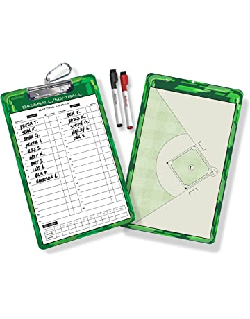 GoSports Coaches Boards - 2 Sided Premium Dry Erase Clipboards - Choose from Baseball, Basketball