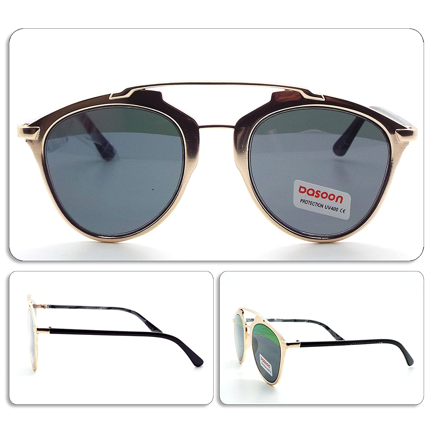 OCCHIALI DA SOLE sunglasses UOMO DONNA UNISEX GOLD ART. 059