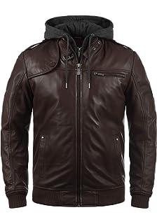 5245b16f3 SOLID - 6119500 - Veste en cuir véritable - Homme: Amazon.fr ...