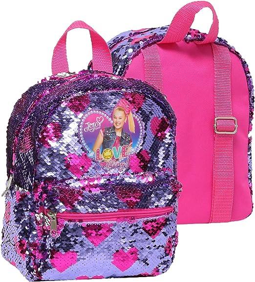 Name Silver Glitter BOW Girls School Bag Rucksack Personalised Kids Backpack
