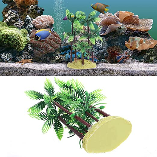 KunmniZ - Planta de Acuario de plástico para árbol de Coco, pecera Artificial, decoración de Agua: Amazon.es: Productos para mascotas