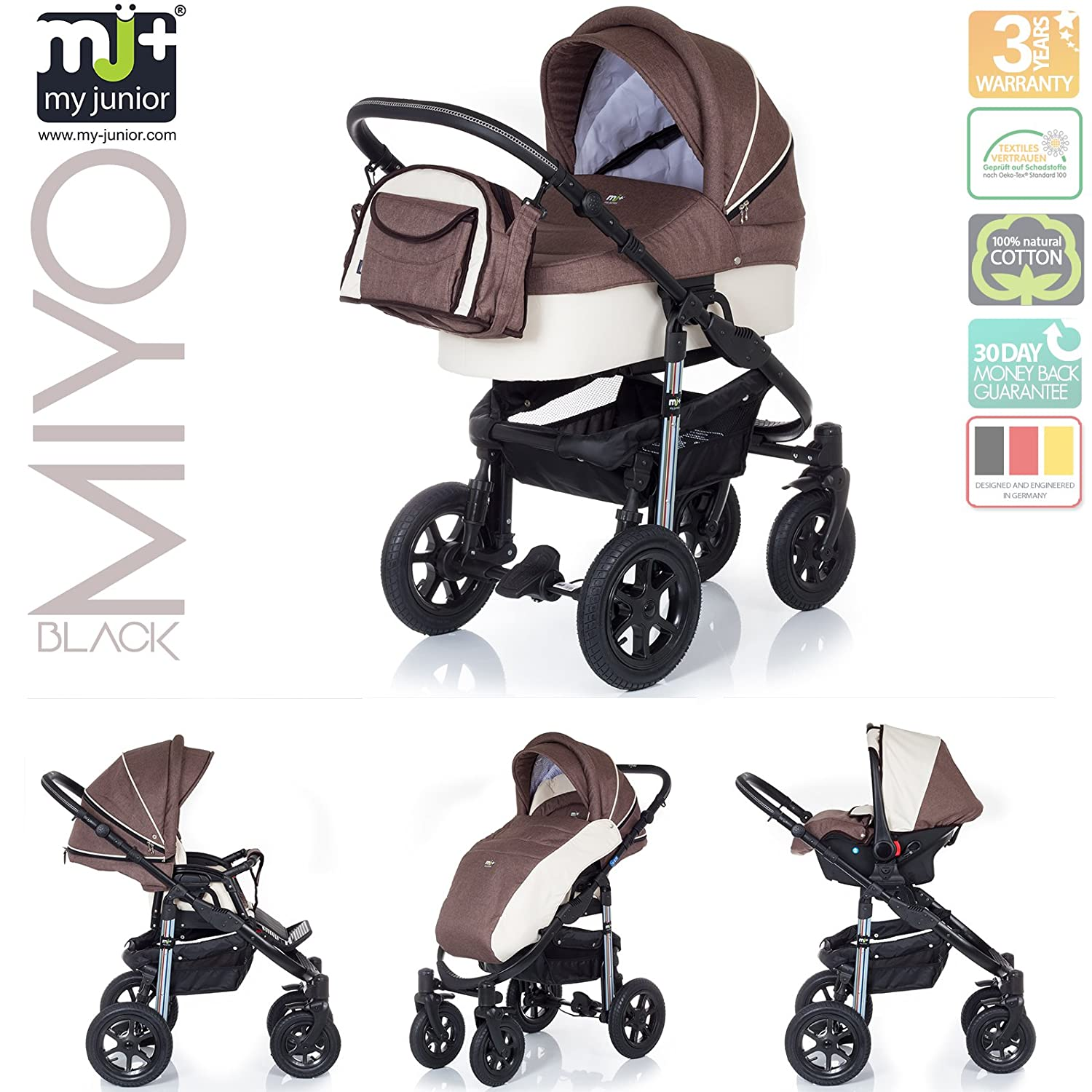 My Junior – My Junior® Miyo Black Edition – myjunior _ Miyo _ Abstract – Moca: Amazon.es: Bebé