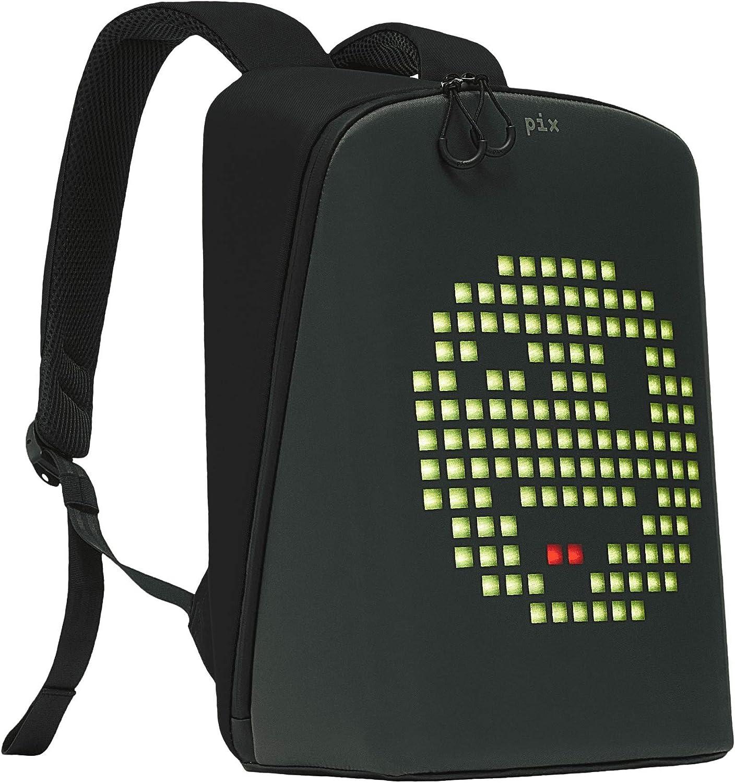 Smart LED Pix Backpack 15 Laptop Backpack for Men and Women, Waterproof, Black