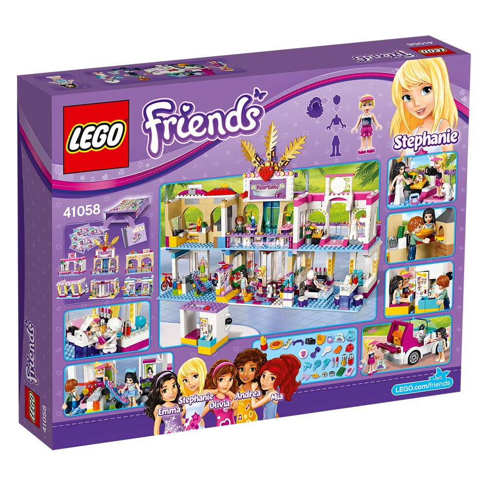 Lego friends heartlake grand hotel 41101 lego friends uk - Lego Friends 41058 Heartlake Shopping Mall Amazon Co Uk Toys Games