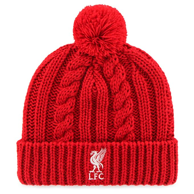 6de400525a3 Liverpool FC Official Cable Knitted Hat (One Size) (Red) at Amazon Men s Clothing  store