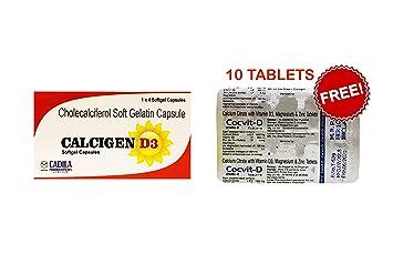 Calcigen D3 Vitamin D3 Cholecalciferol 60000 Iu 20 Capsules Once A Week