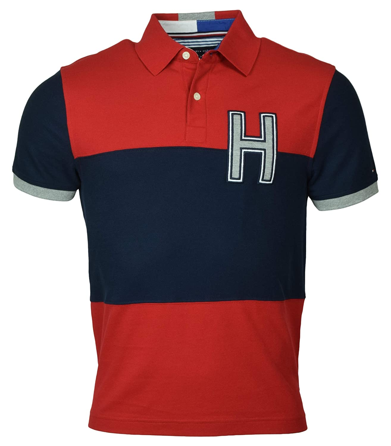 Tommy Hilfiger Mens Performance Pique Pieced Logo Polo Shirt At
