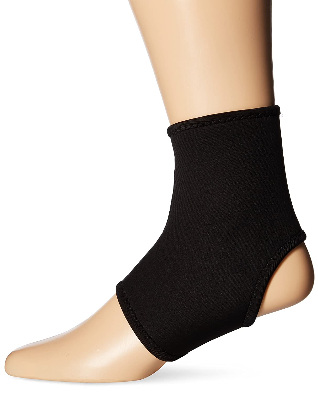 Total Copper Infused Embedded Dual Ankle Supports 7 Count Black