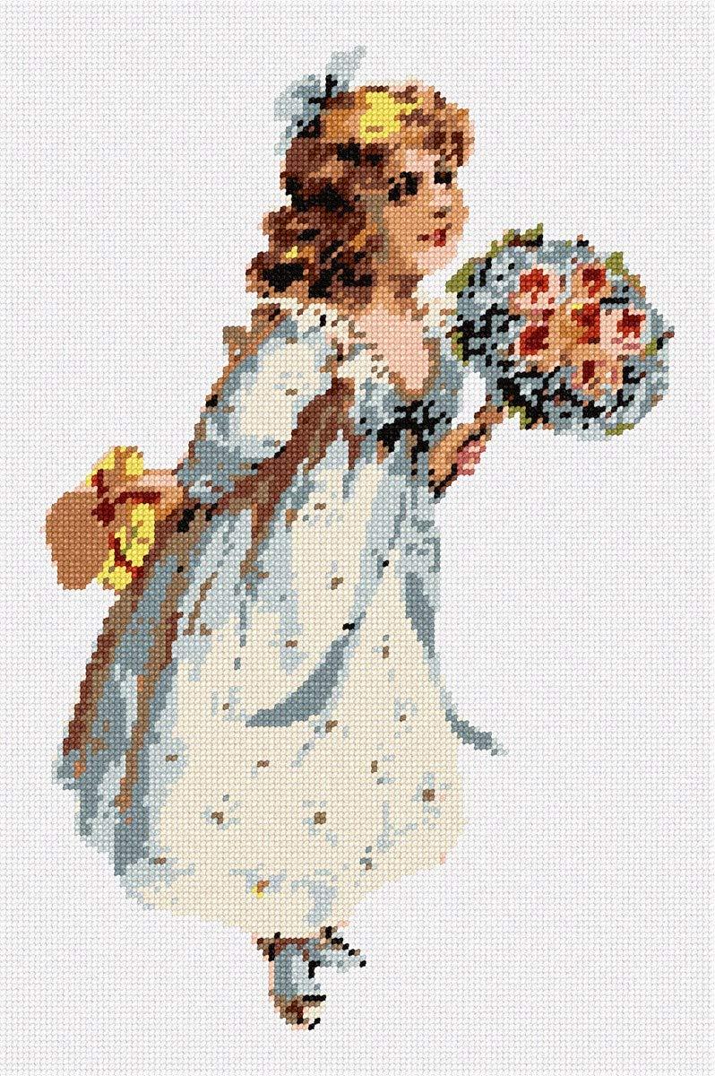 pepita Hannah and Bouquet Needlepoint Kit by pepita