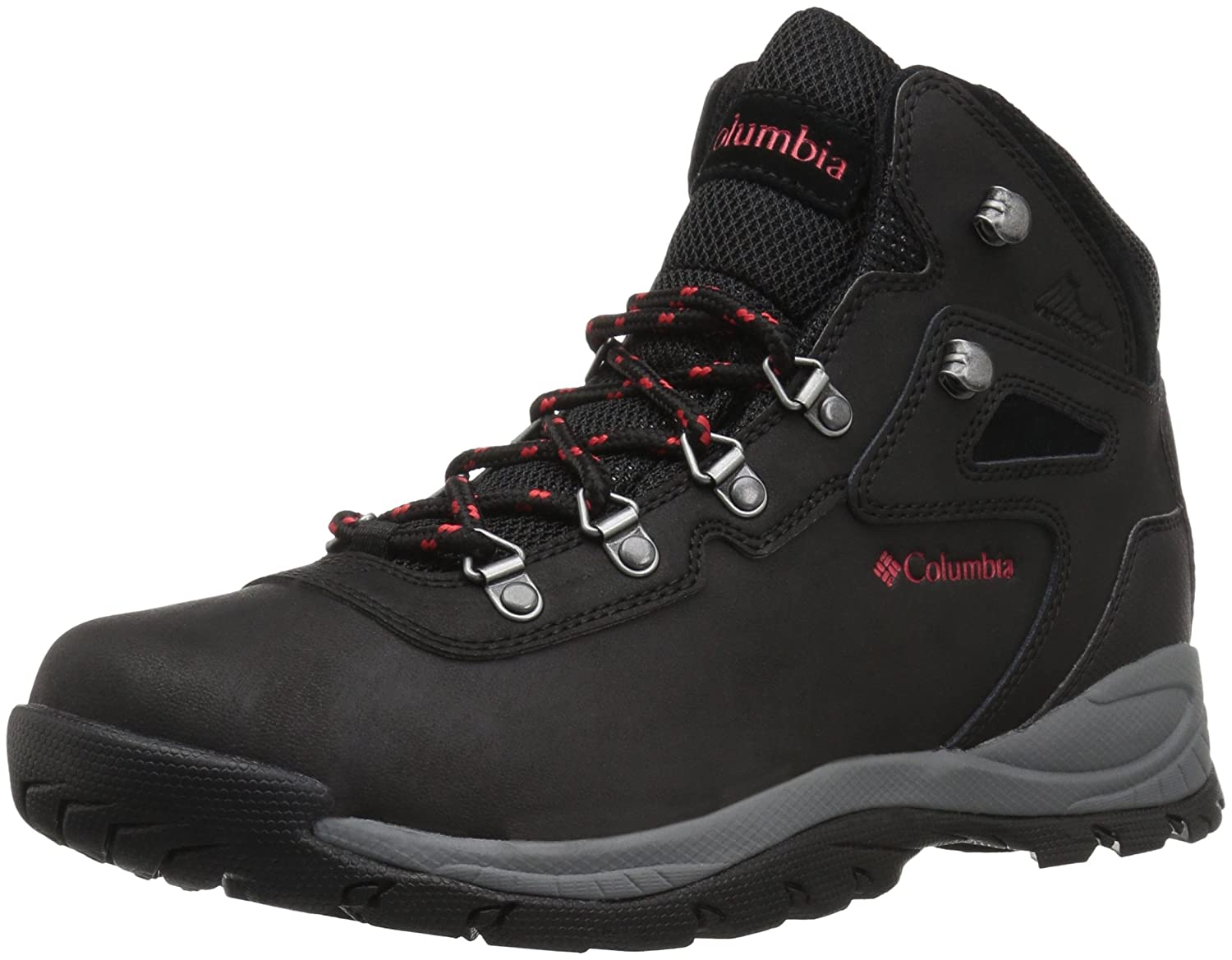 Columbia Women's Newton Ridge Plus Wide Hiking Shoe B0787KH4LF 5.5 W US|Black, Poppy Red