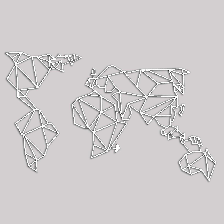 Decorazione Pzvums Mappa Metallo Mondometalbiancow120xd0 In Homemania tCdBsxQhr
