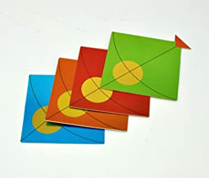 Desi Favors High Quality Set of 15 Small Kite Cut Outs - Pongal/Sankranthi/Lohri Decorations- Indian Wedding Decorations