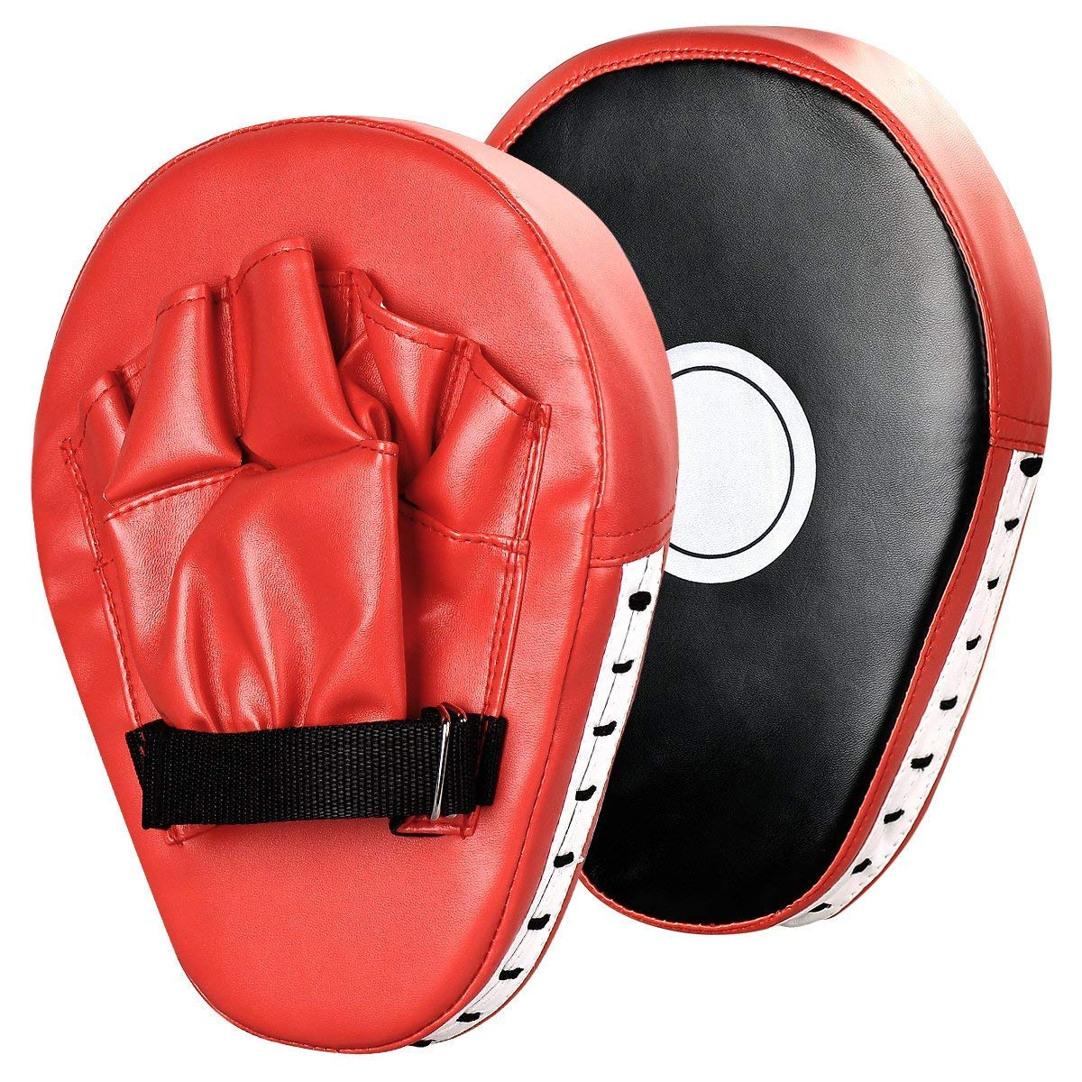 Buy Allamazing Leather Boxing Gloves Mitts Training Target Focus Punch Pads BAG